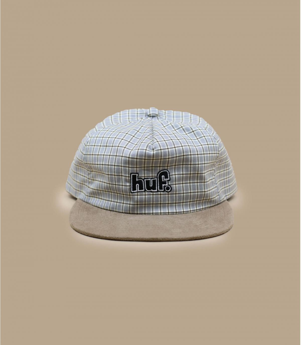 snapback Huf carreaux beige