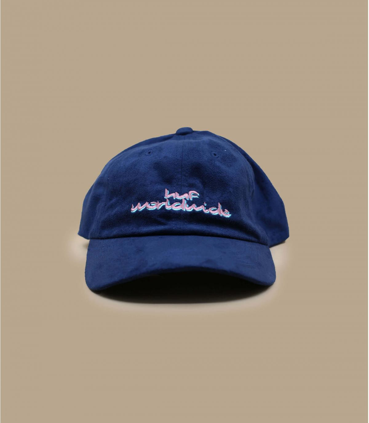casquette suede bleu Huf