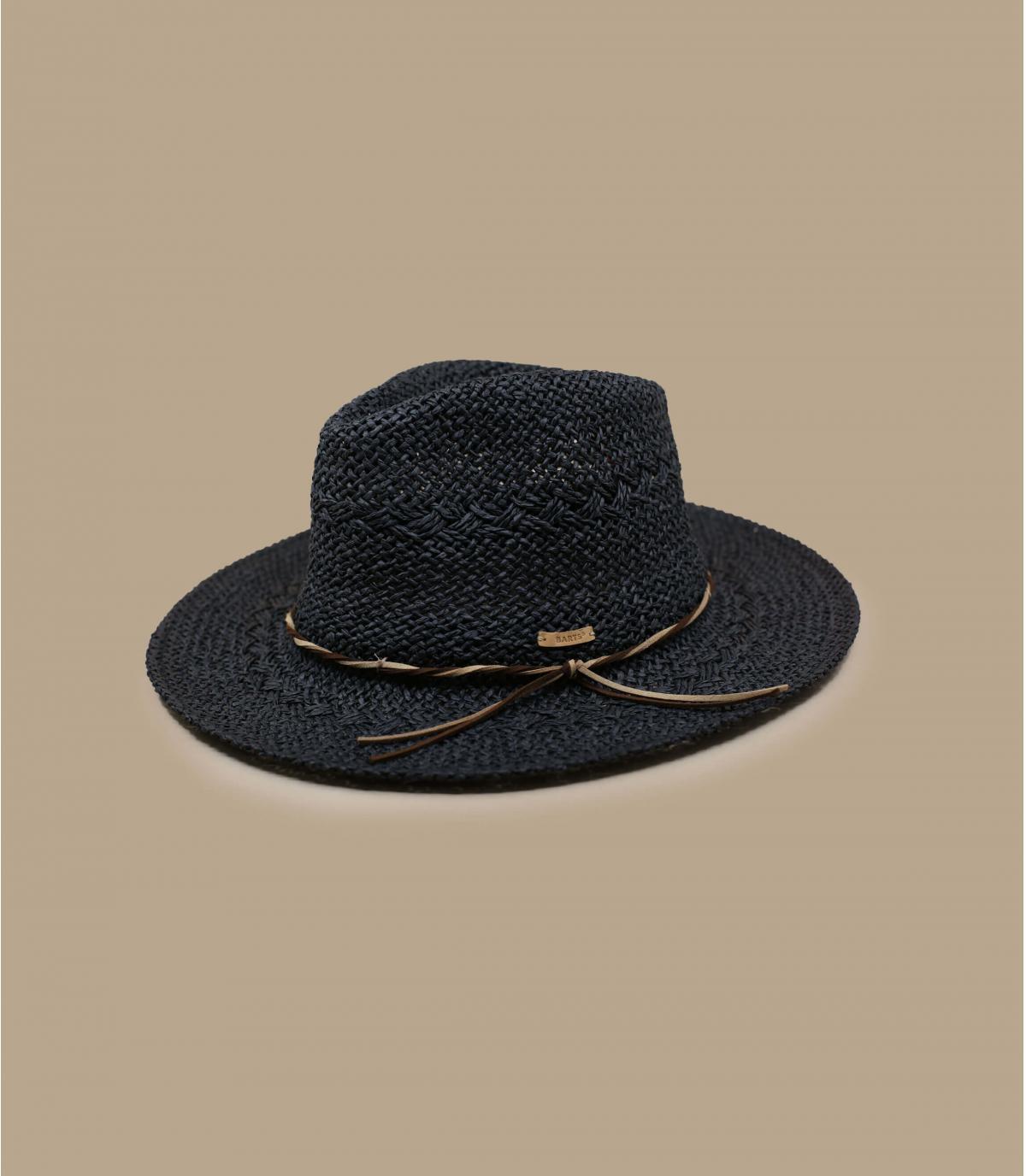 chapeau paille noir Barts