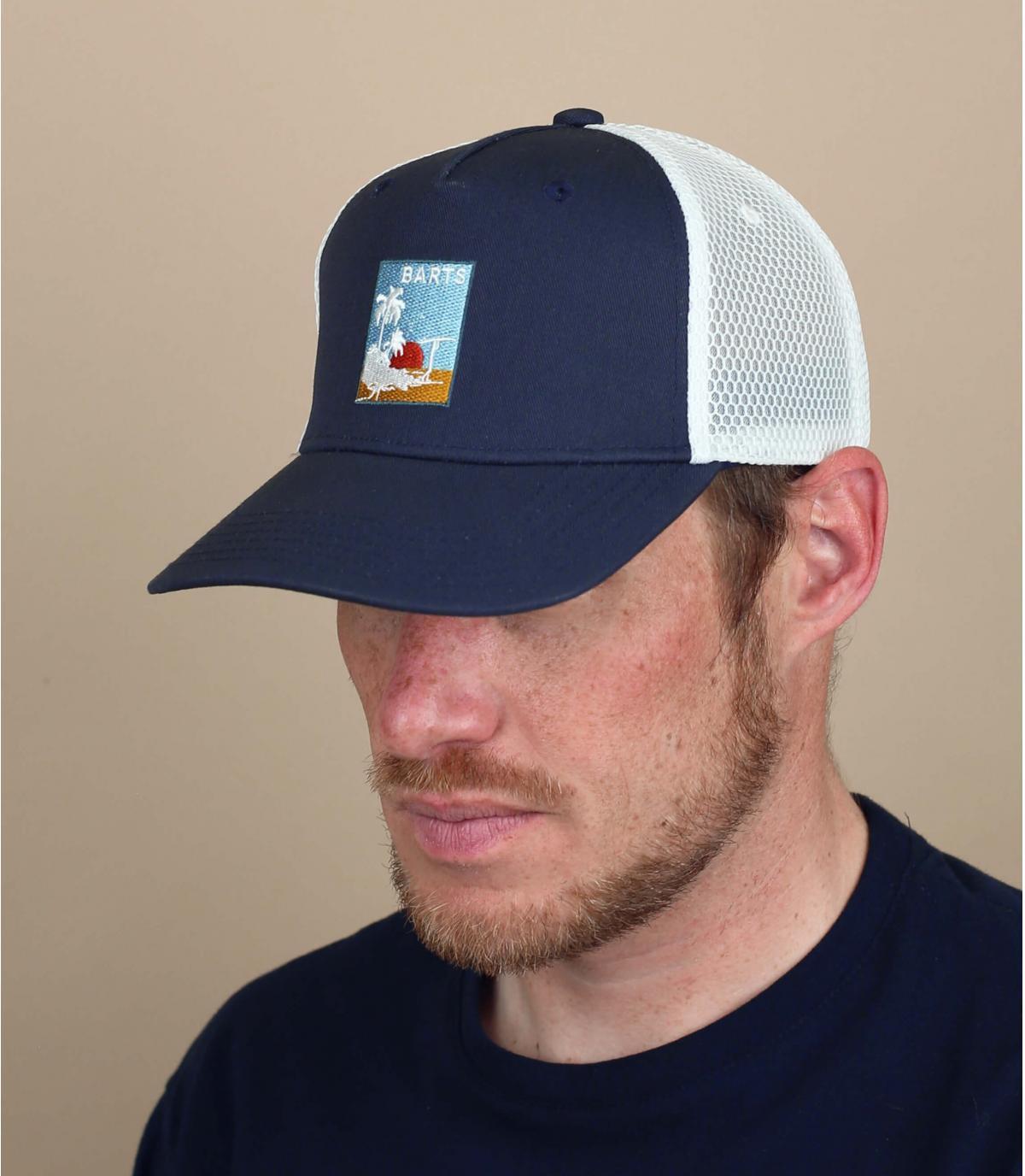 trucker bleue patch Barts
