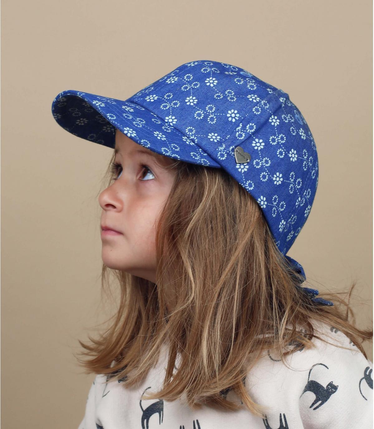 casquette enfant bleu