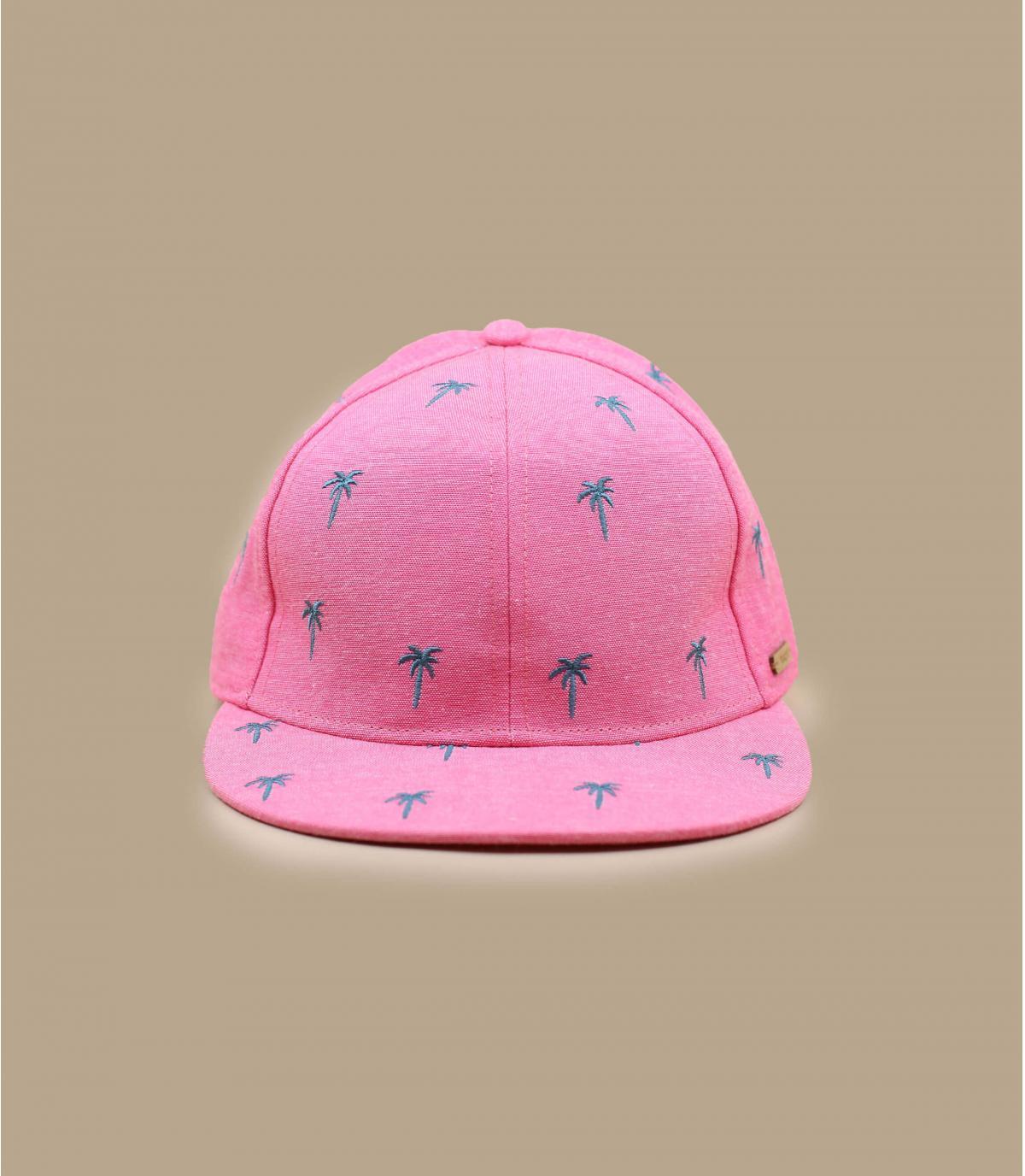 casquette enfant rose palmiers