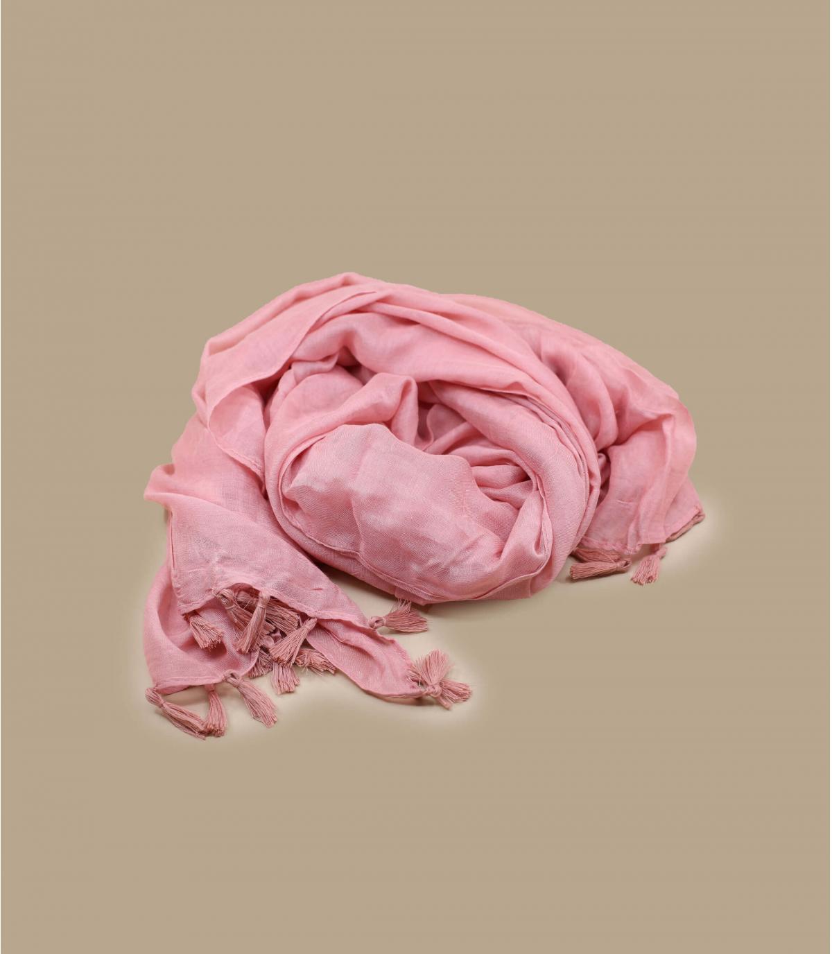 foulard rose viscose