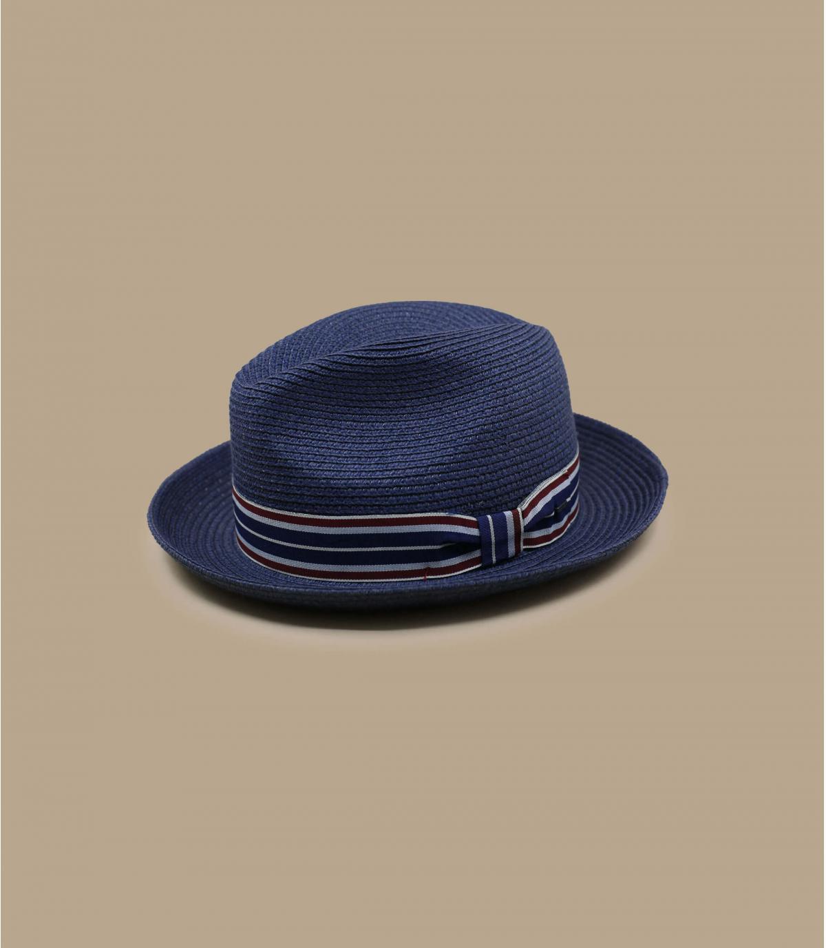chapeau paille bleu marine Bailey