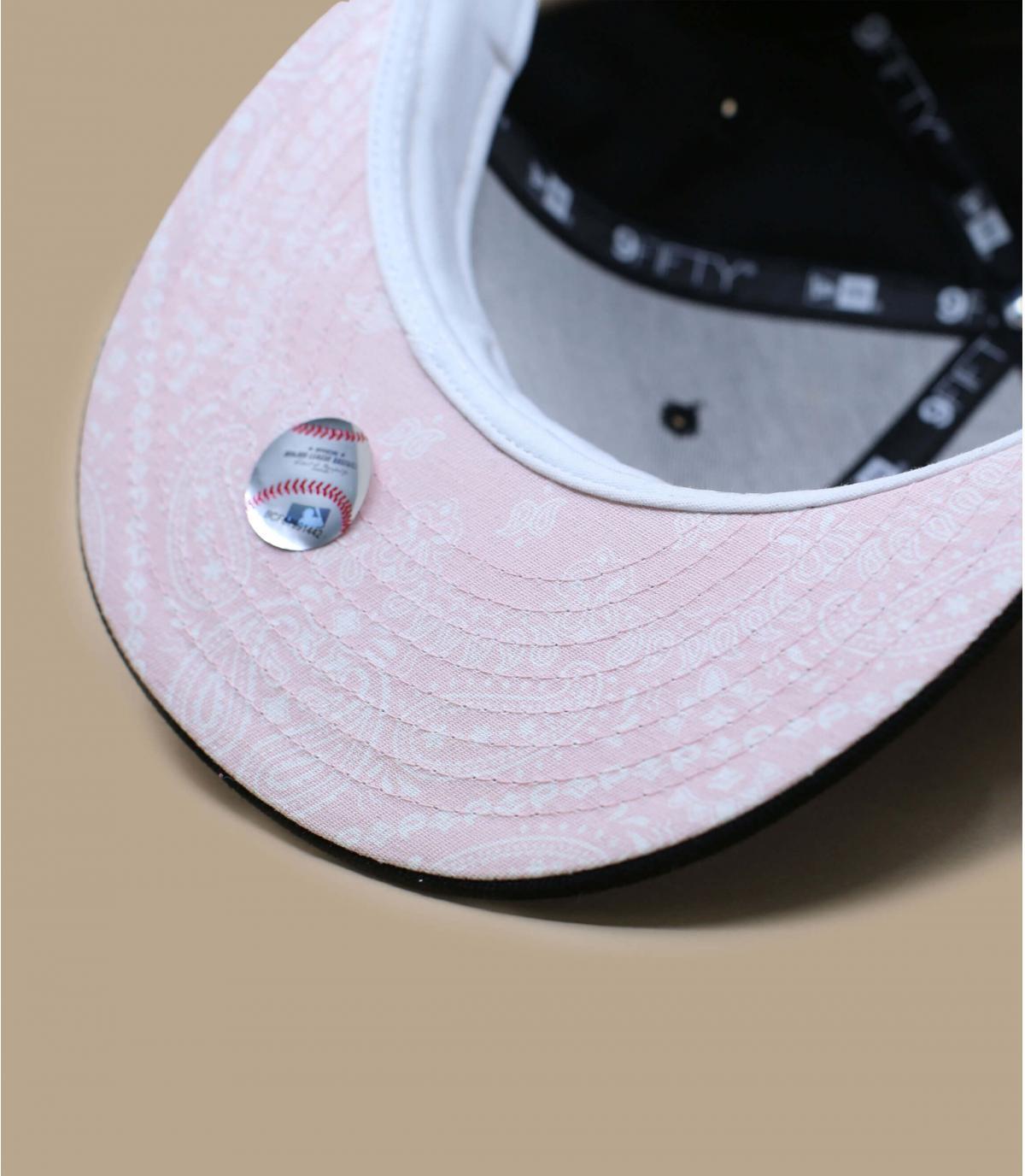 Détails Snapback Quickturn Paisley NY 950 black pink - image 5