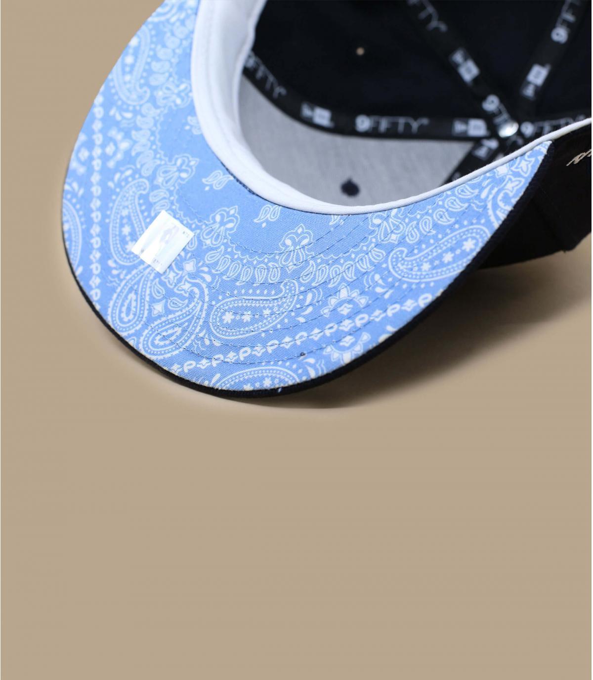 Détails Snapback Quickturn Paisley Bulls 950 navy sky blue - image 5