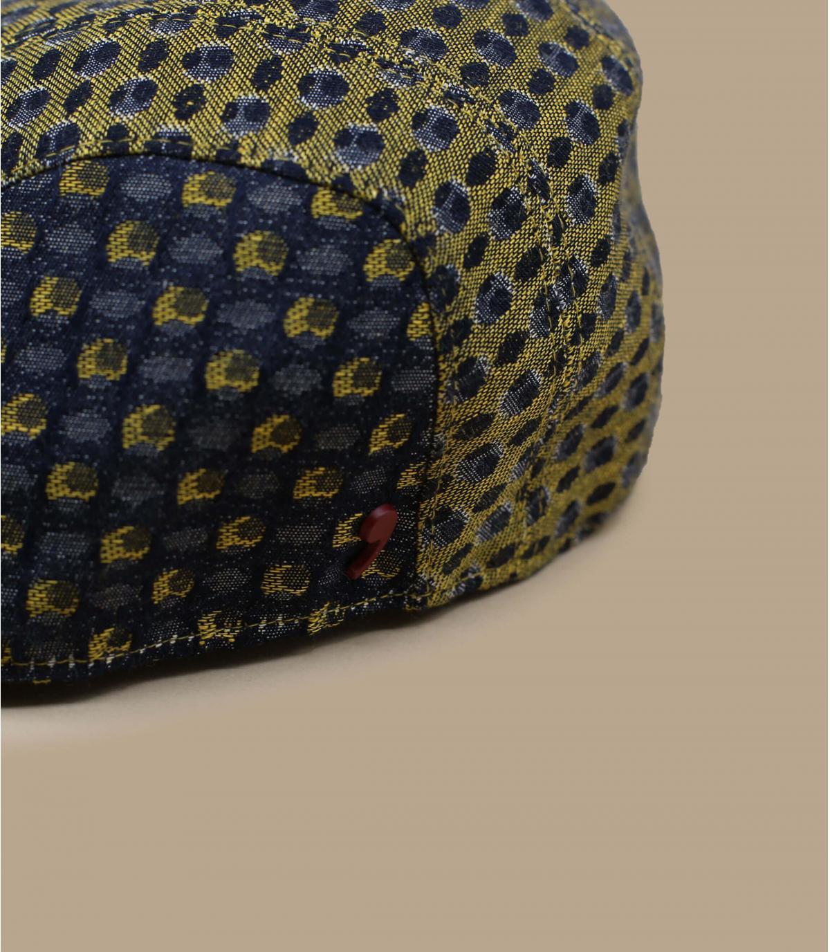 béret jaune bleu motif
