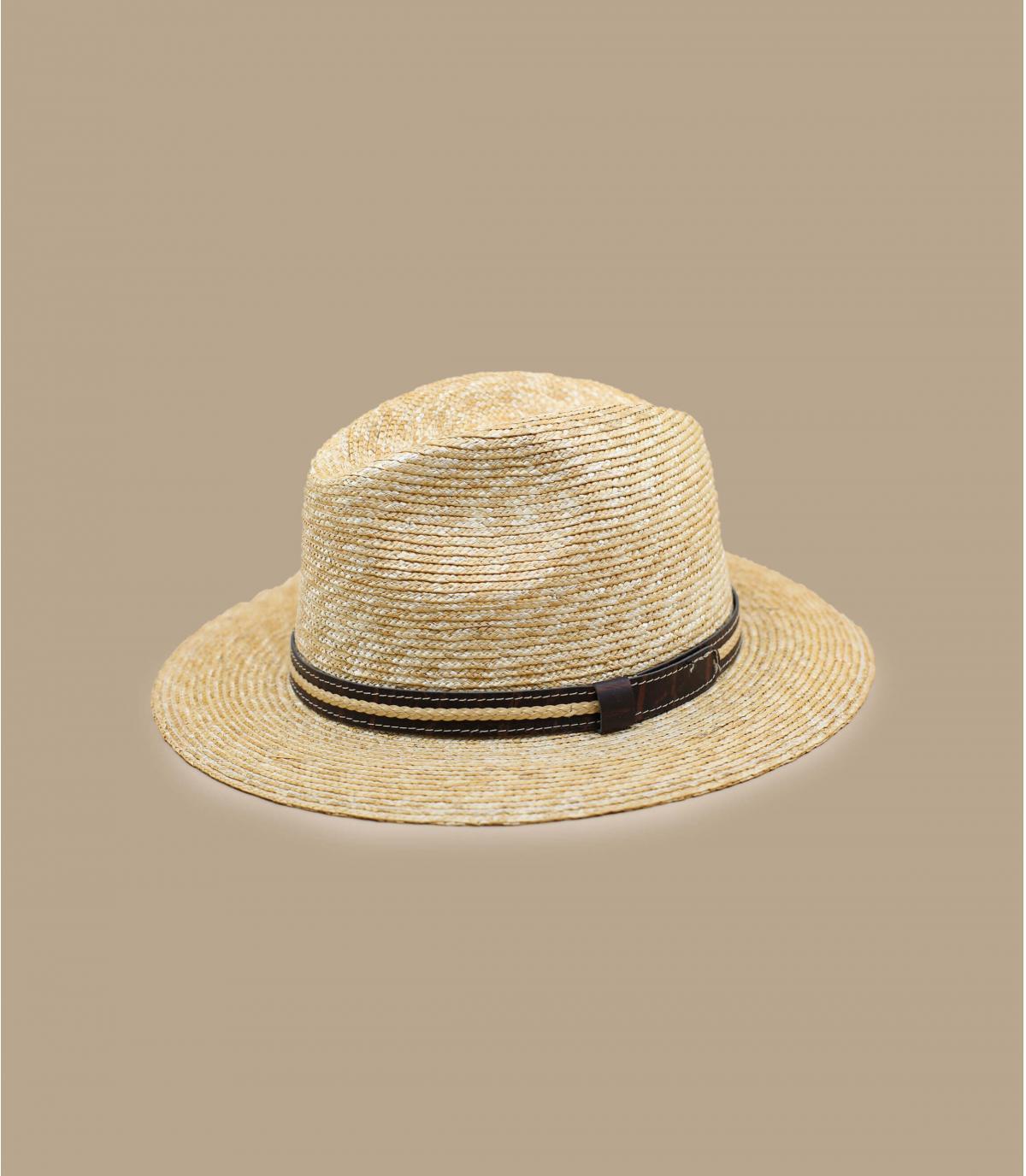 chapeau paille beige