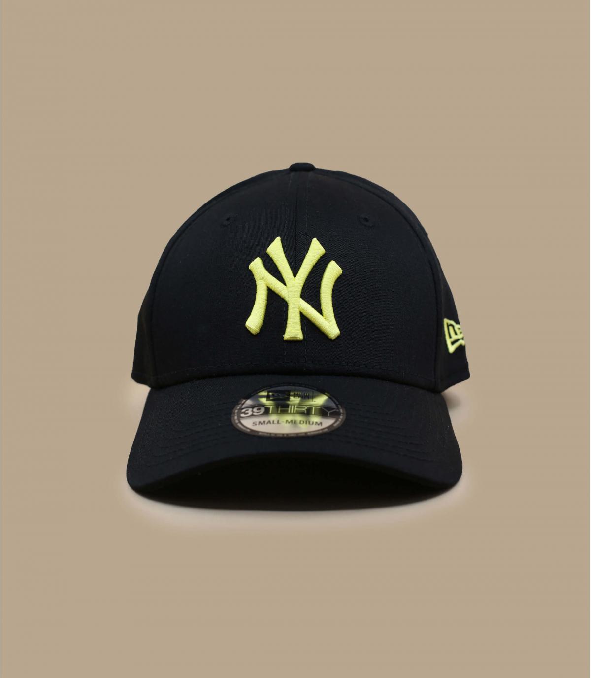 casquette NY stretch noir jaune