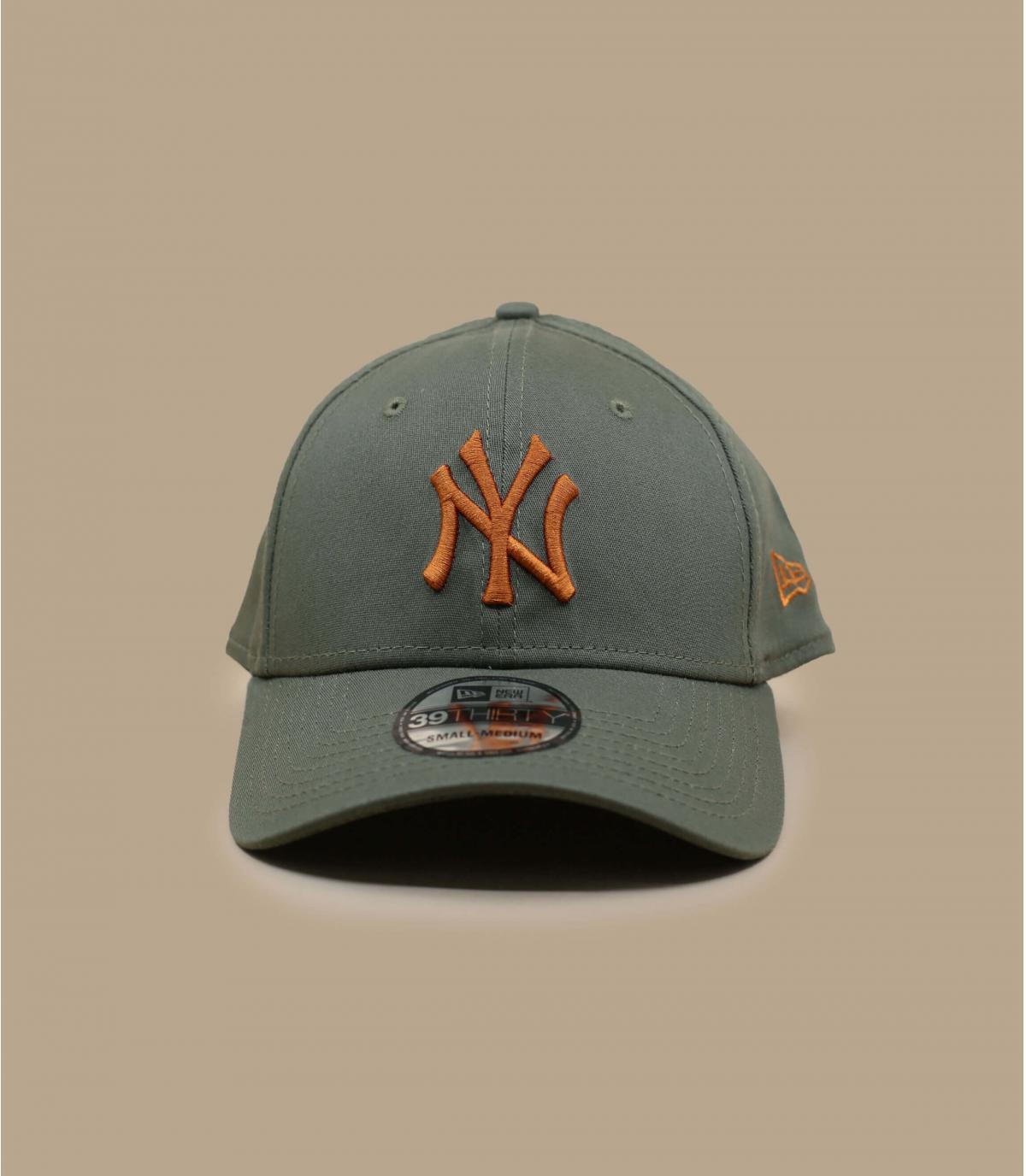 casquette stretch NY vert orange