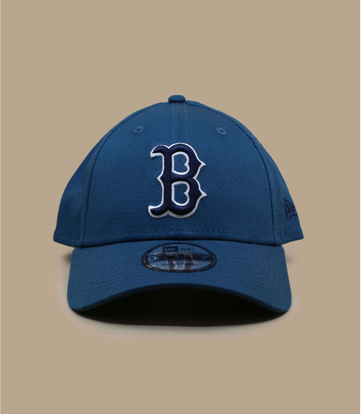 casquette B bleu gris