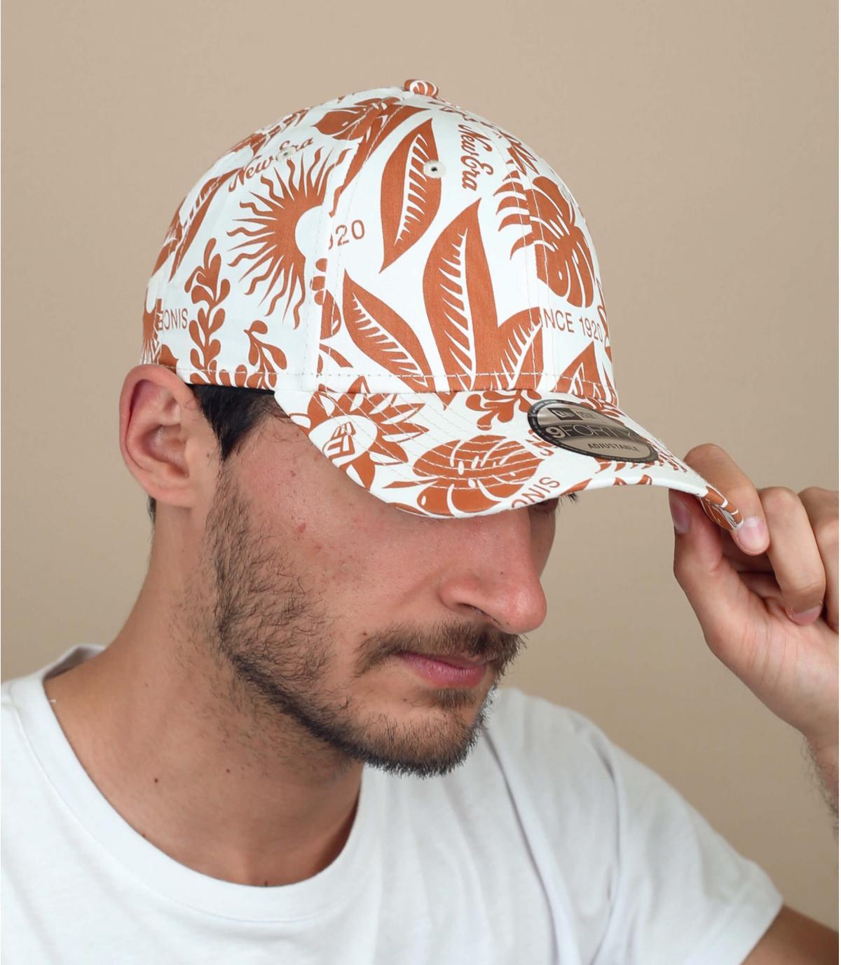 casquette imprimé floral