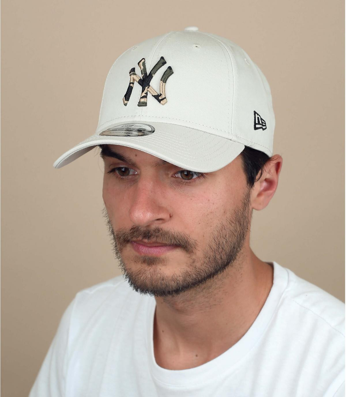 casquette NY beige