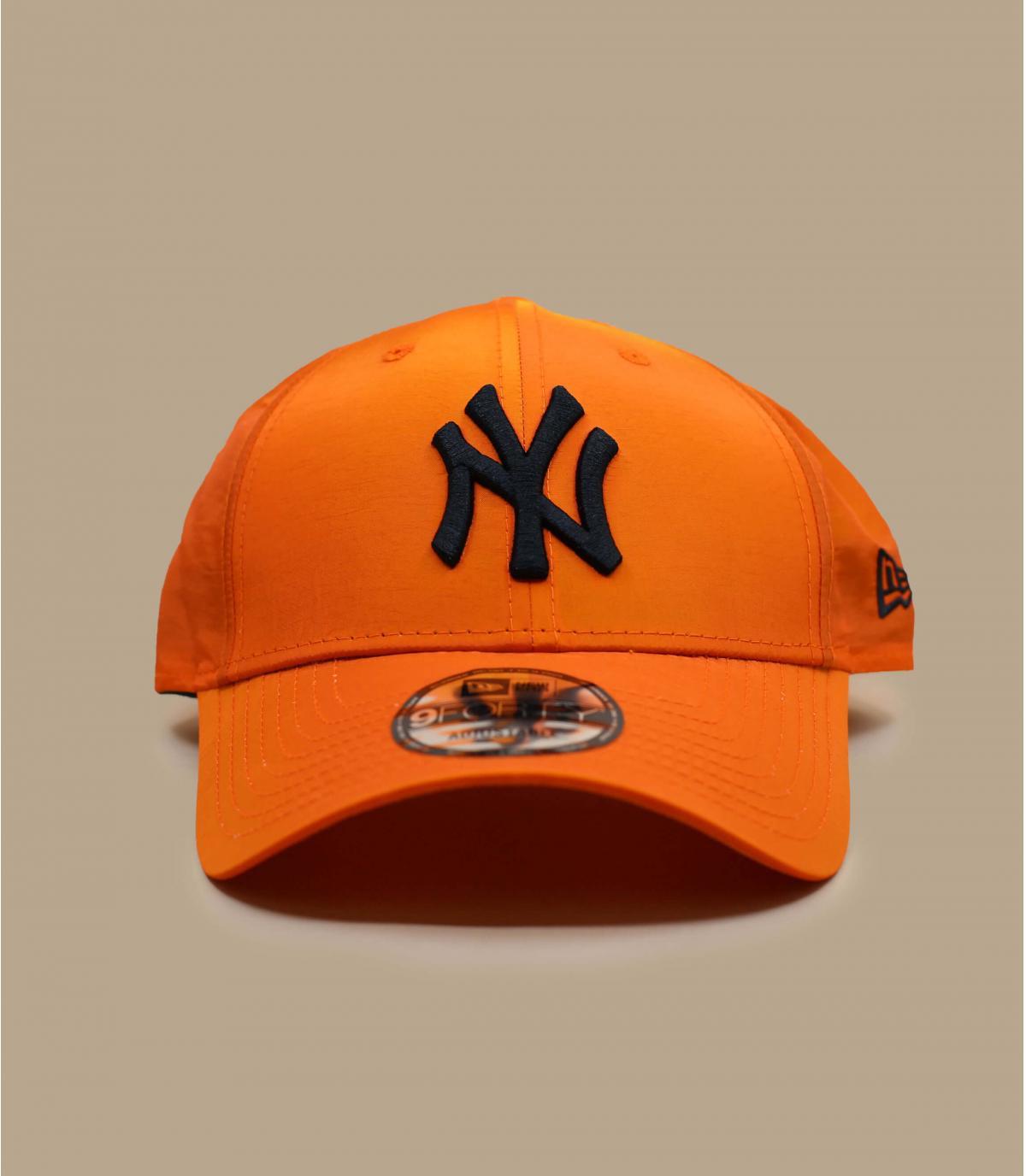 casquette NY orange irisée