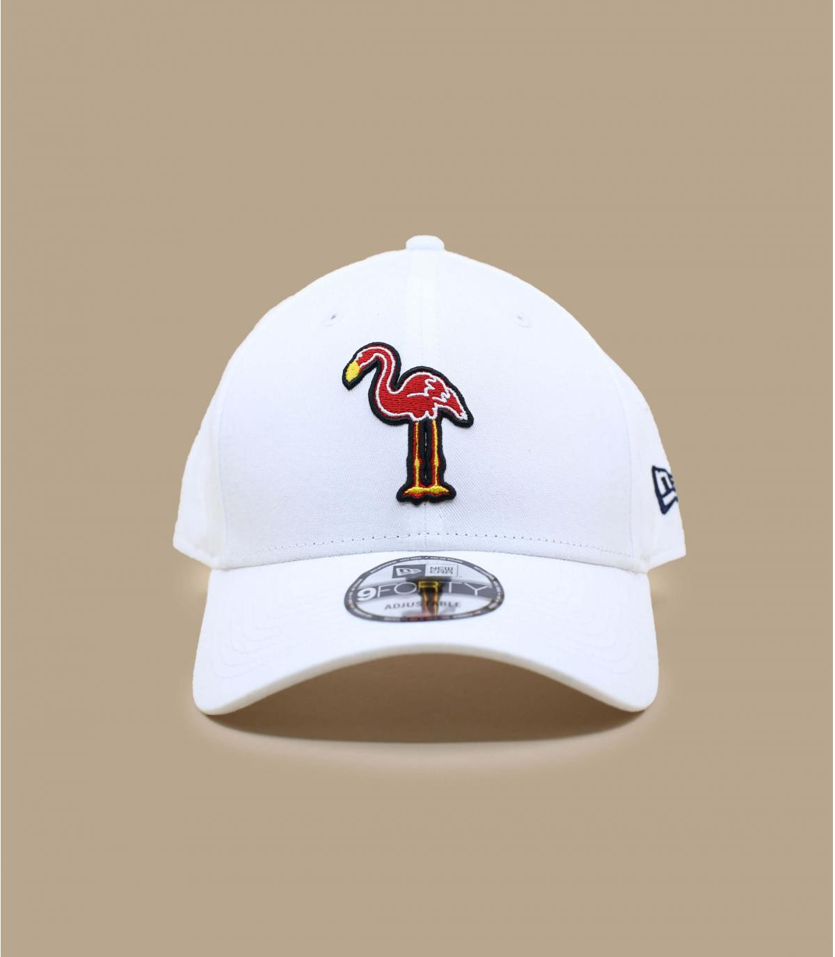 casquette flamant rose blanc