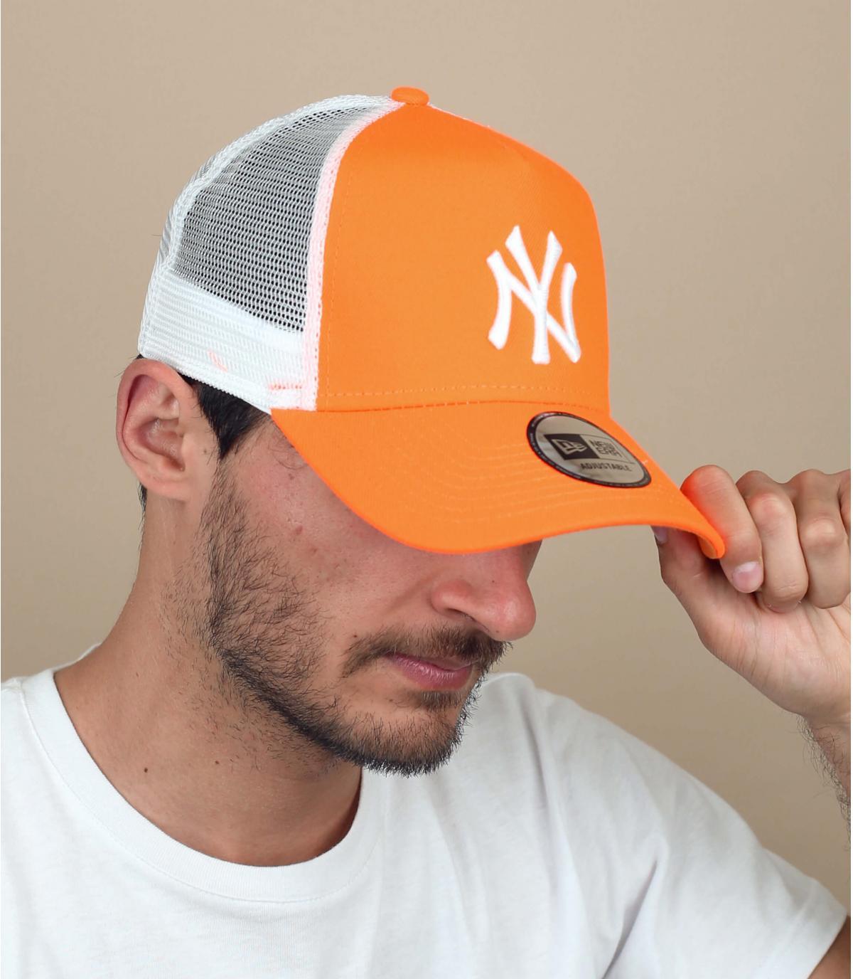 trucker NY orange