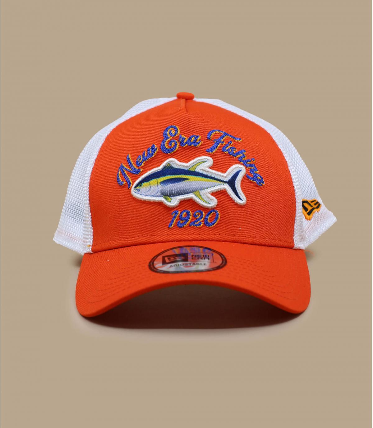 trucker pêche orange