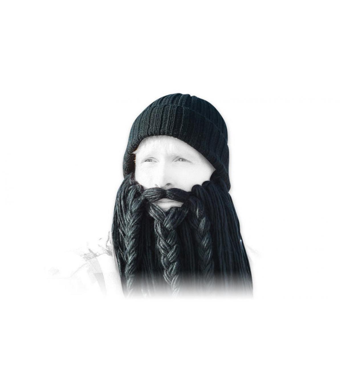 bonnet long black beard viking