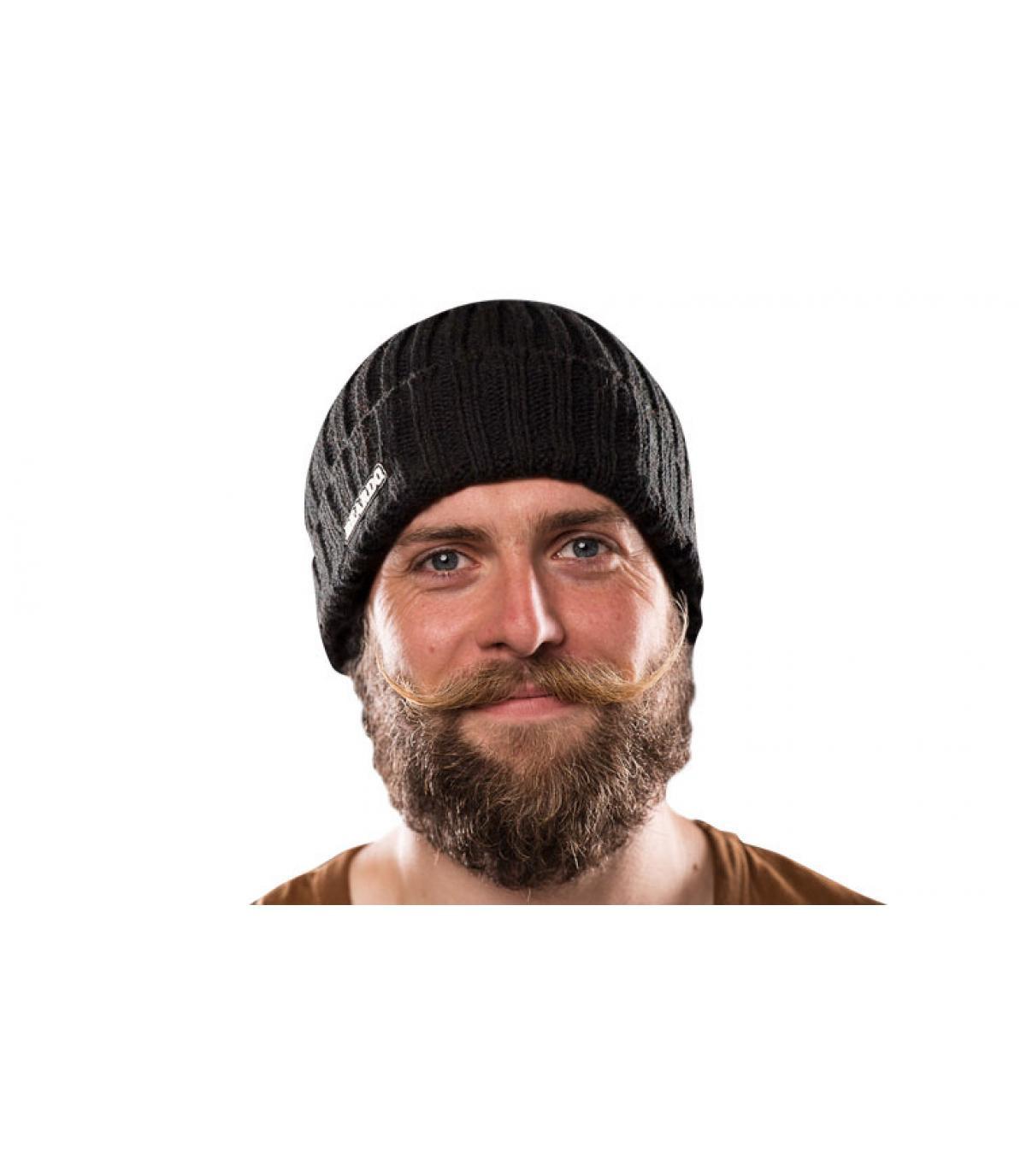 Détails Long black beard Viking - image 2