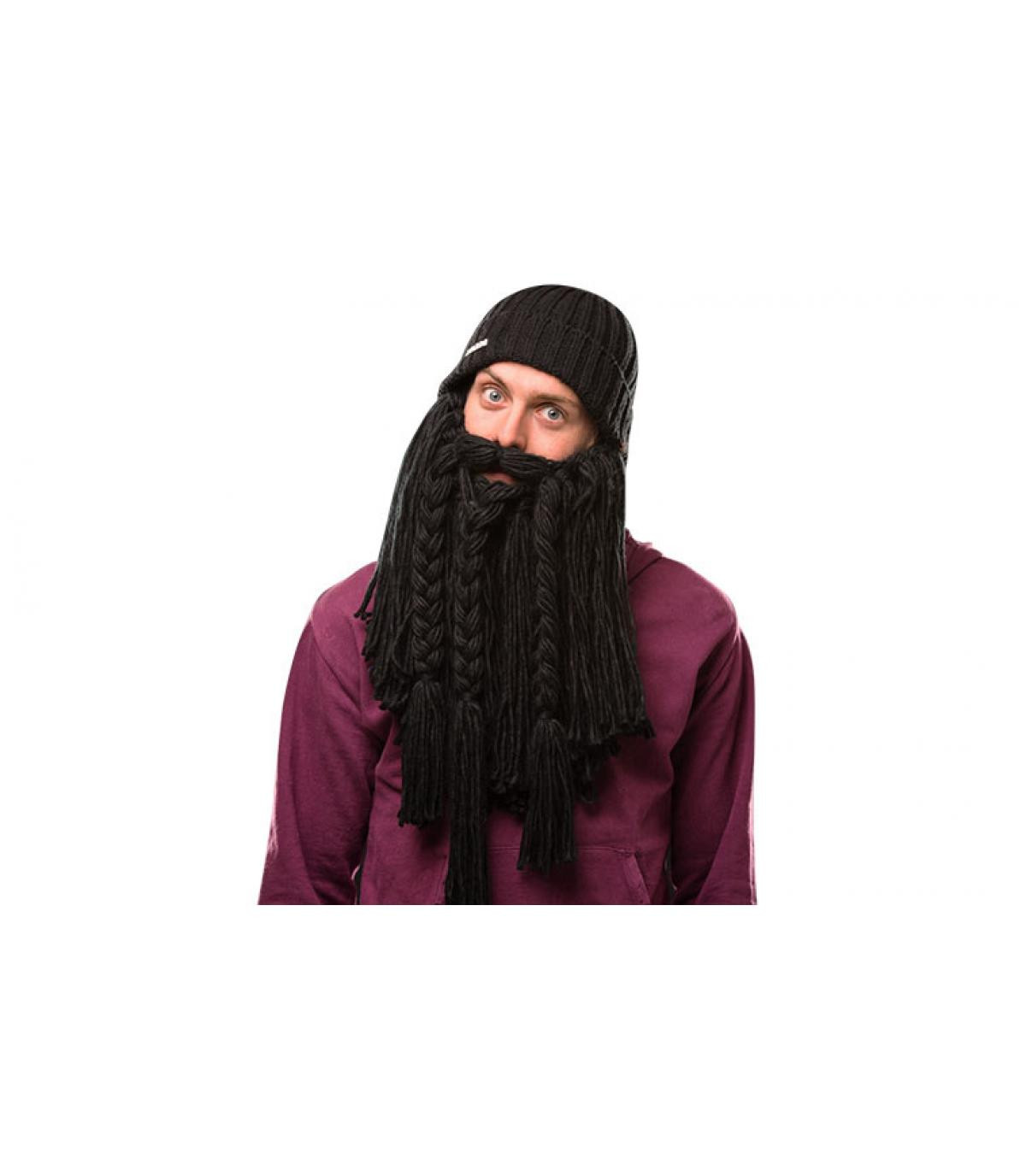 Détails Long black beard Viking - image 3