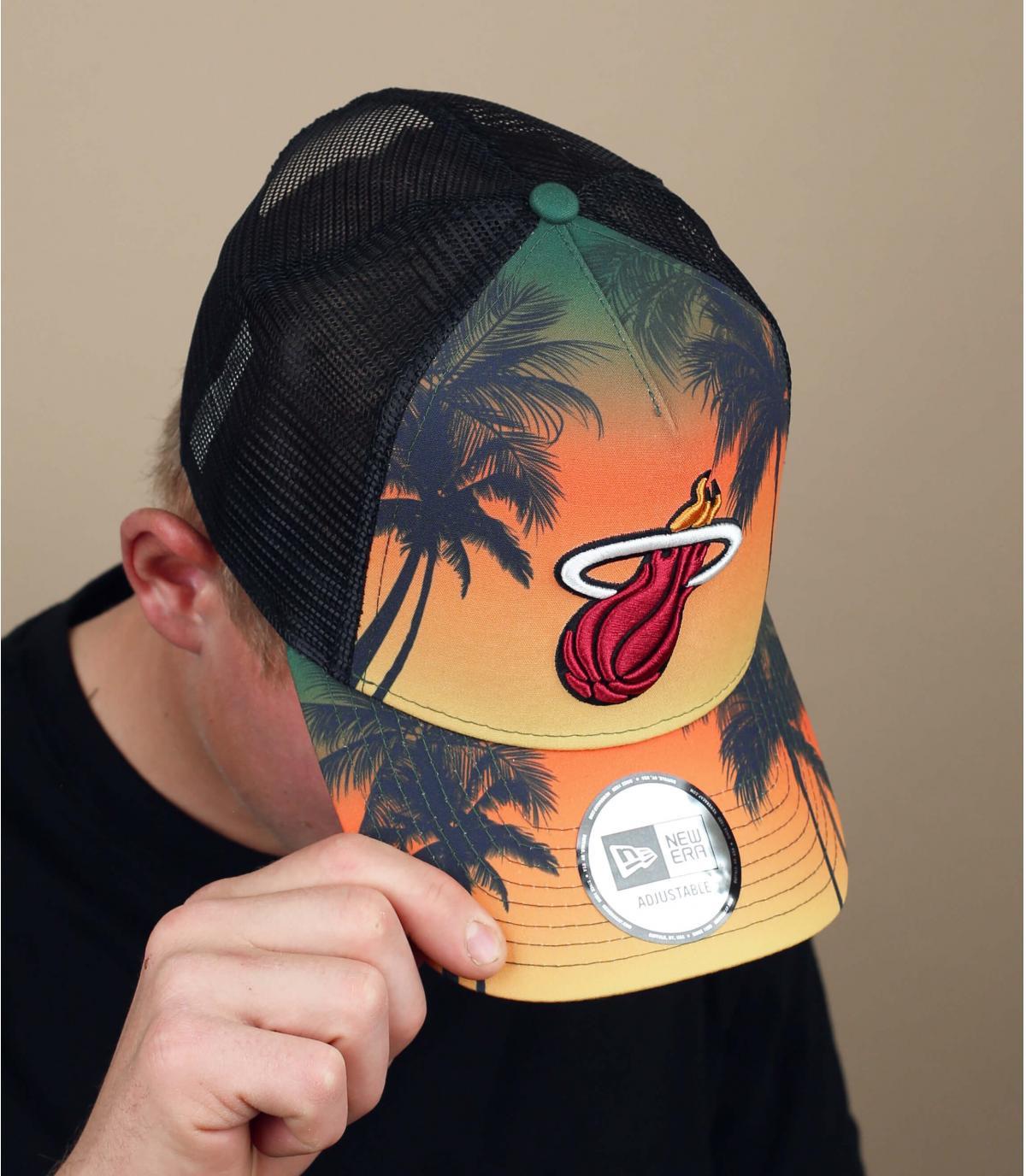 trucker Miami Heats palmiers