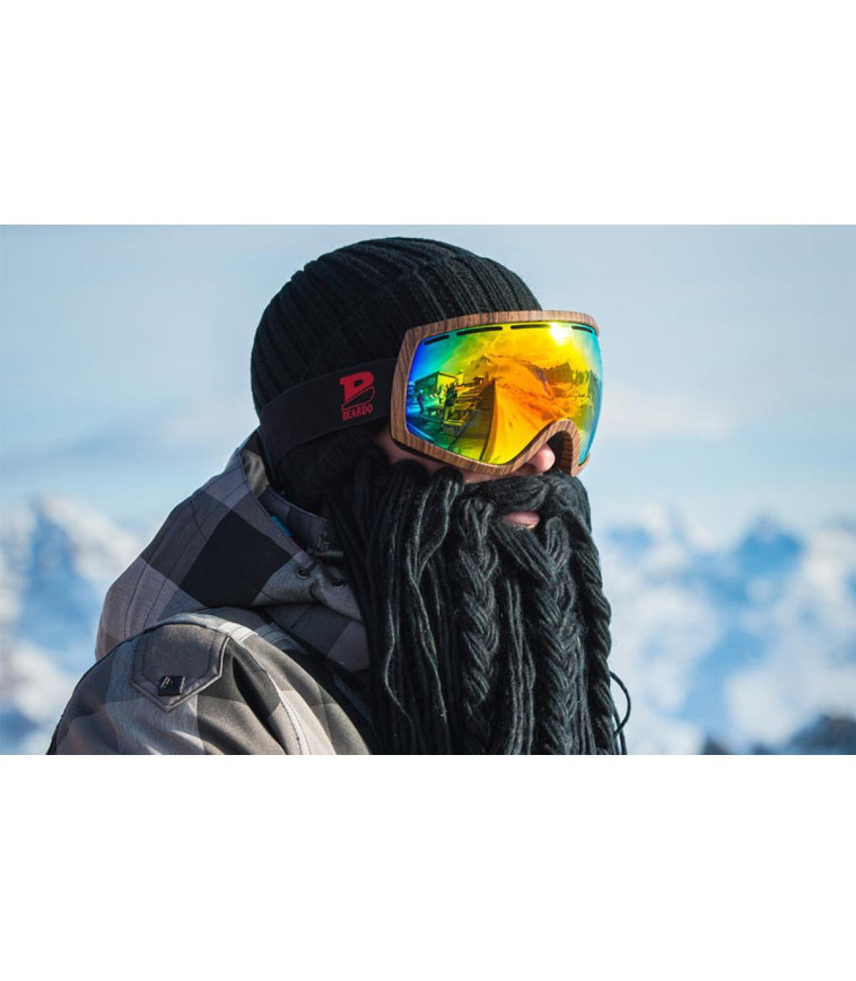 Détails Long black beard Viking - image 4