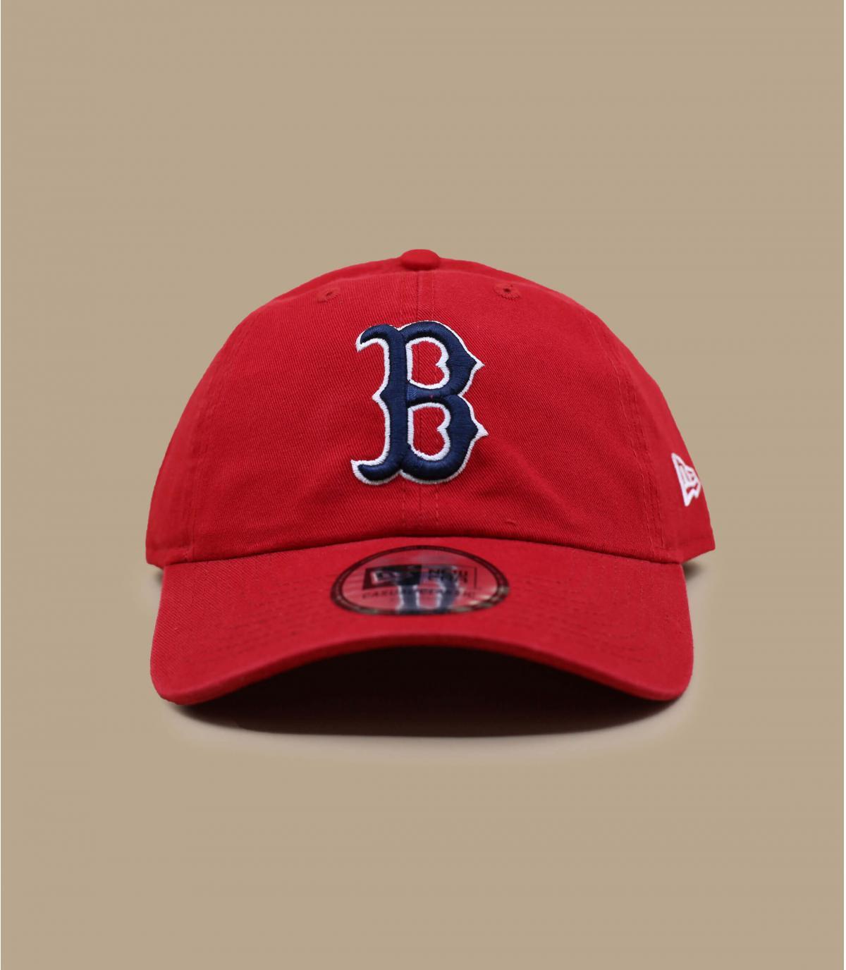 casquette déstructurée B rouge