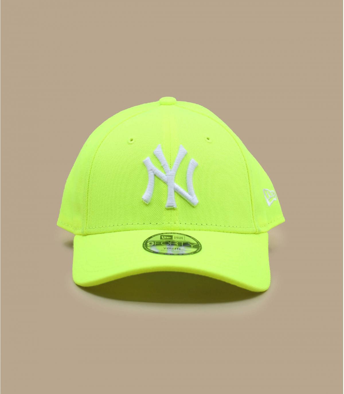 casquette enfant NY jaune fluo