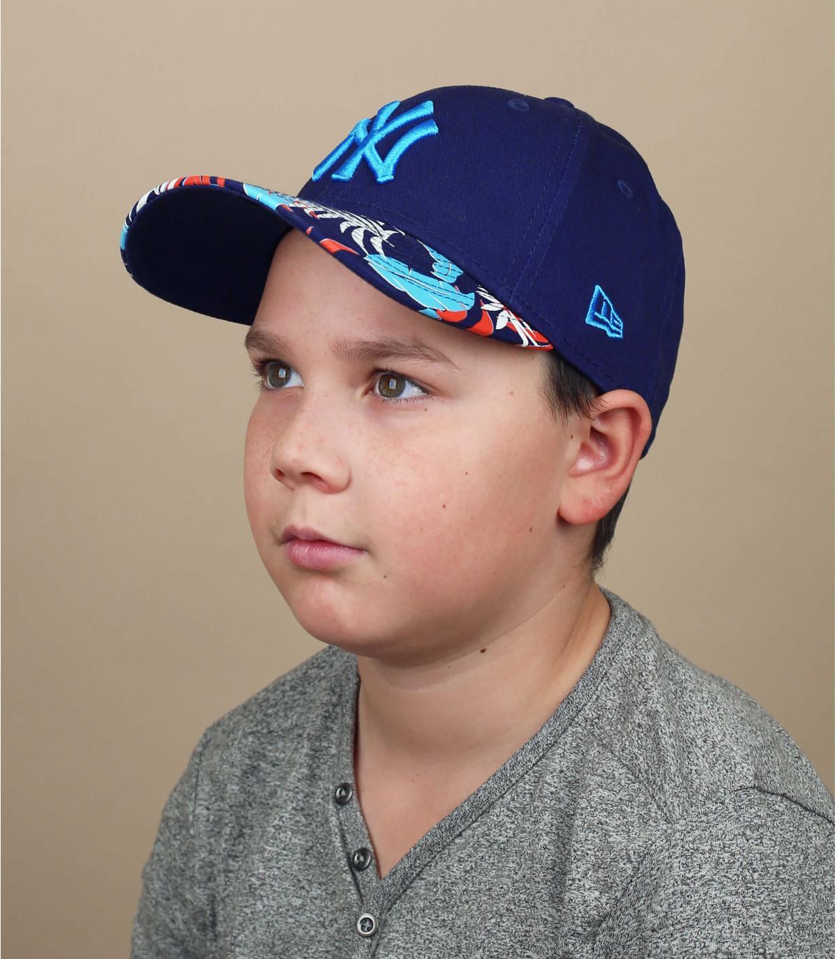 casquette NY enfant noir bleu