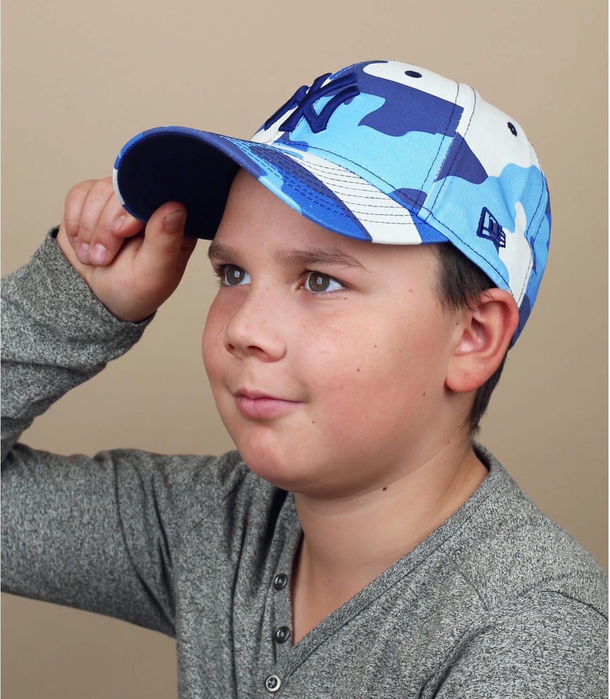 casquette enfant camo bleu