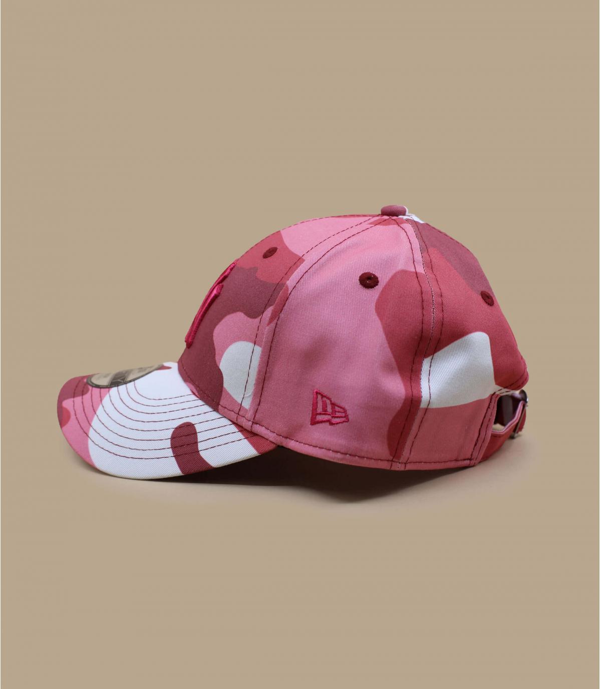 casquette enfant camo rose