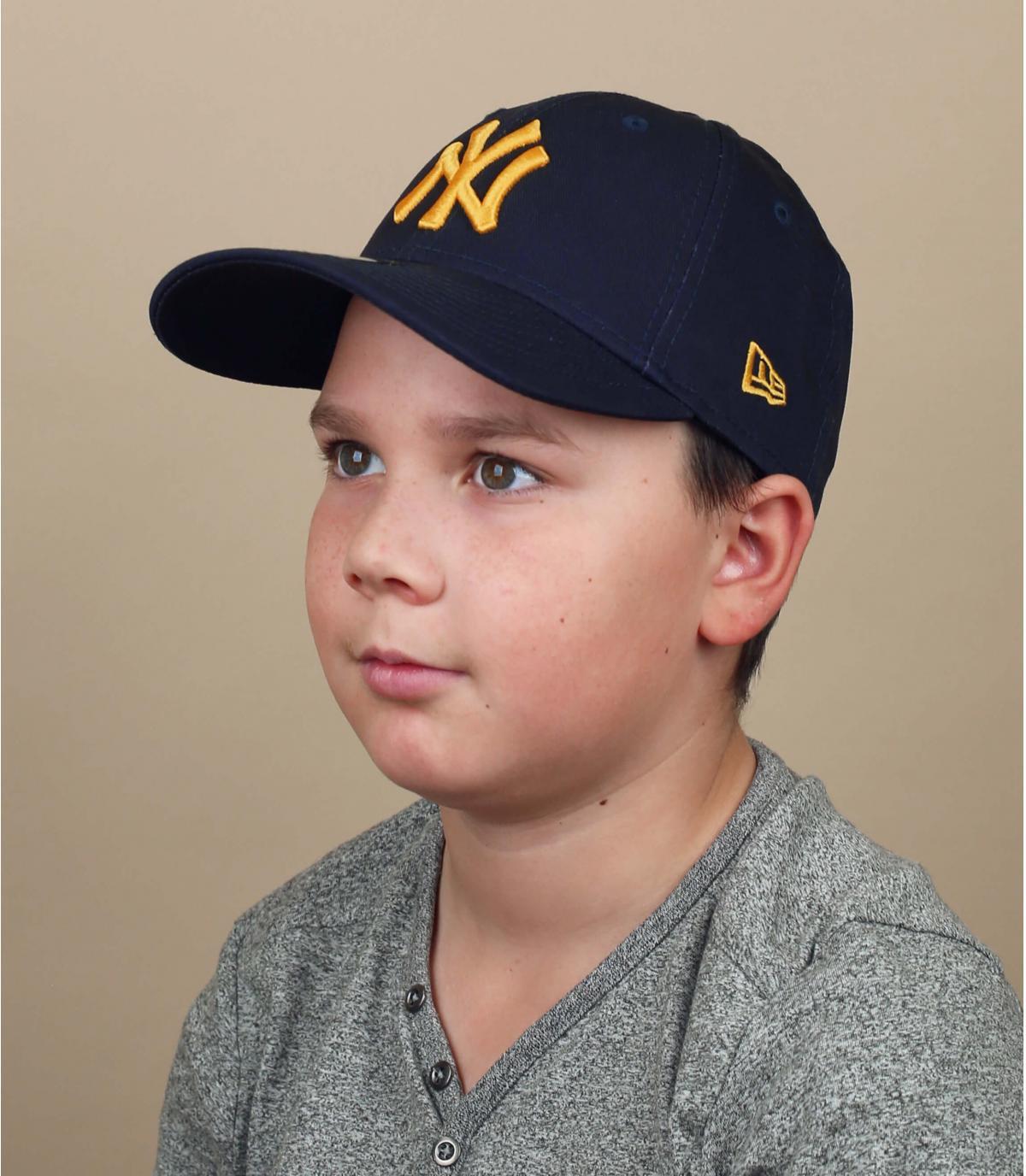 casquette enfant NY bleu marine