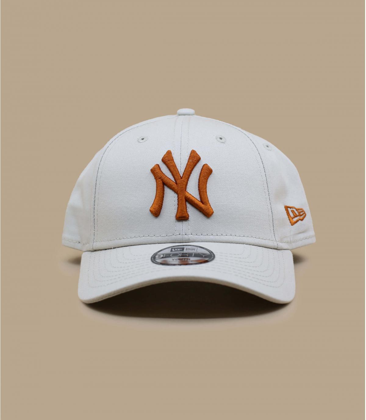 casquette enfant NY beige