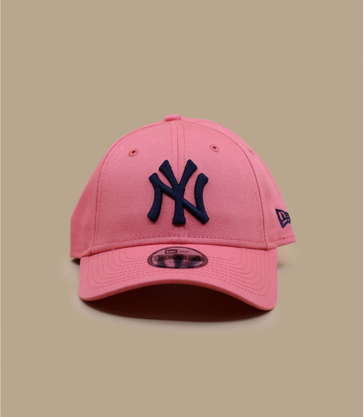 casquette NY enfant rose