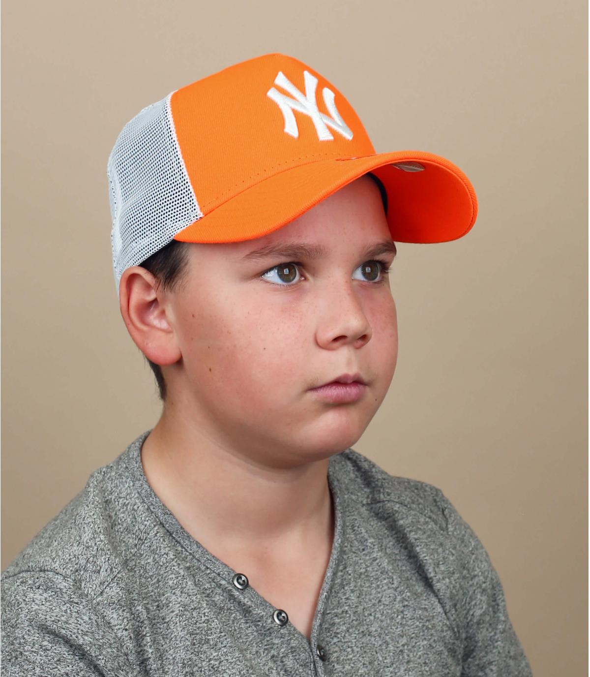 trucker NY orange enfant