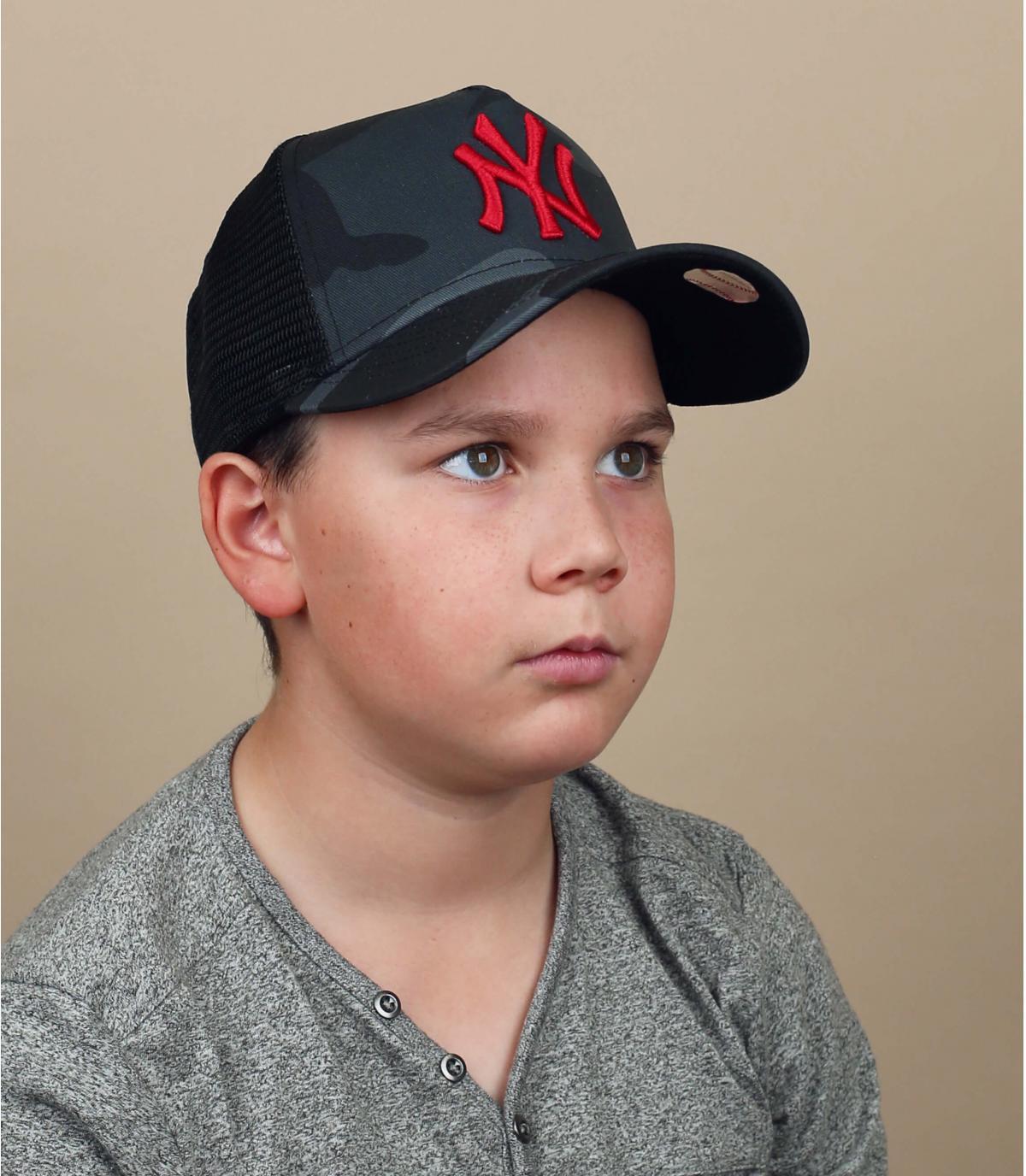 trucker NY enfant camo