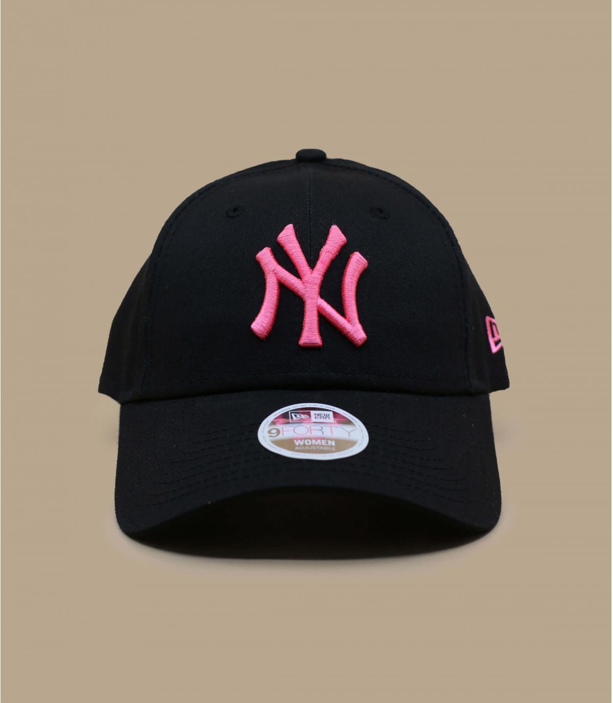 casquette NY femme noir rose