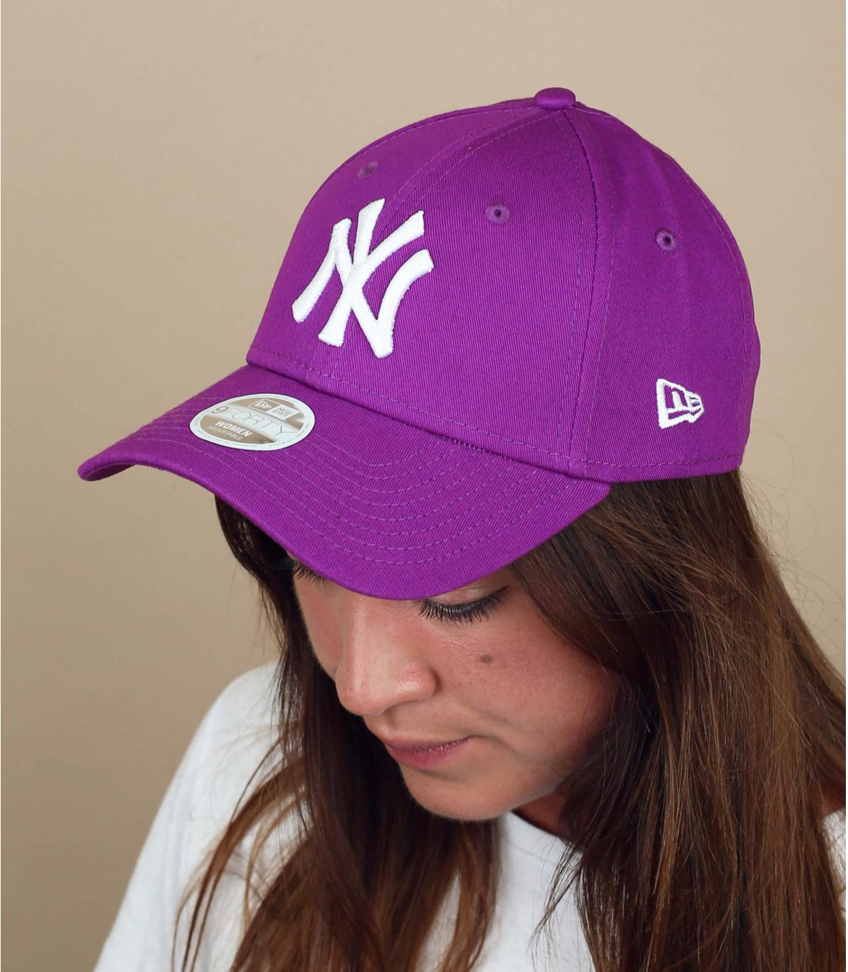 casquette NY femme violet