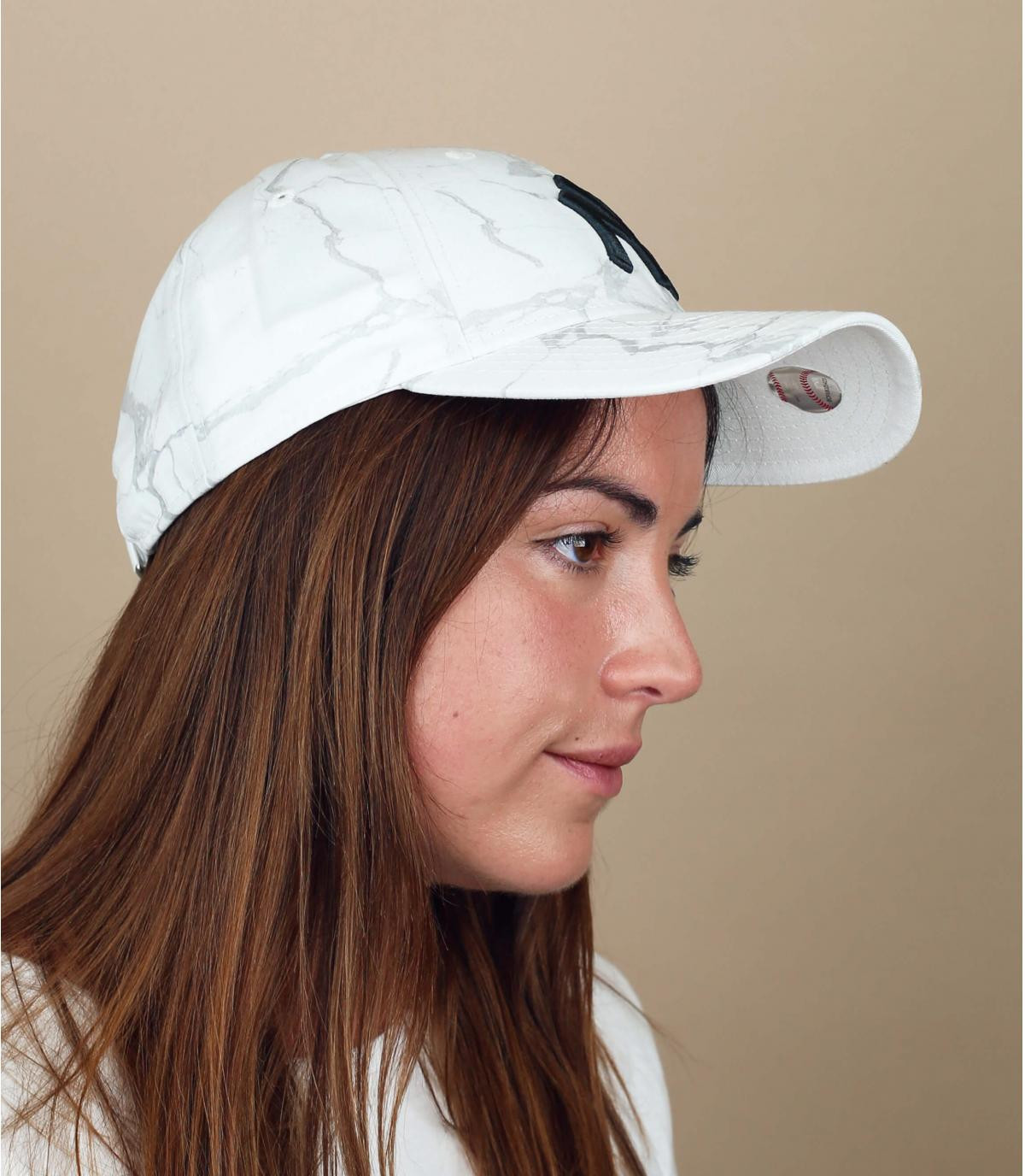 casquette NY femme blanc