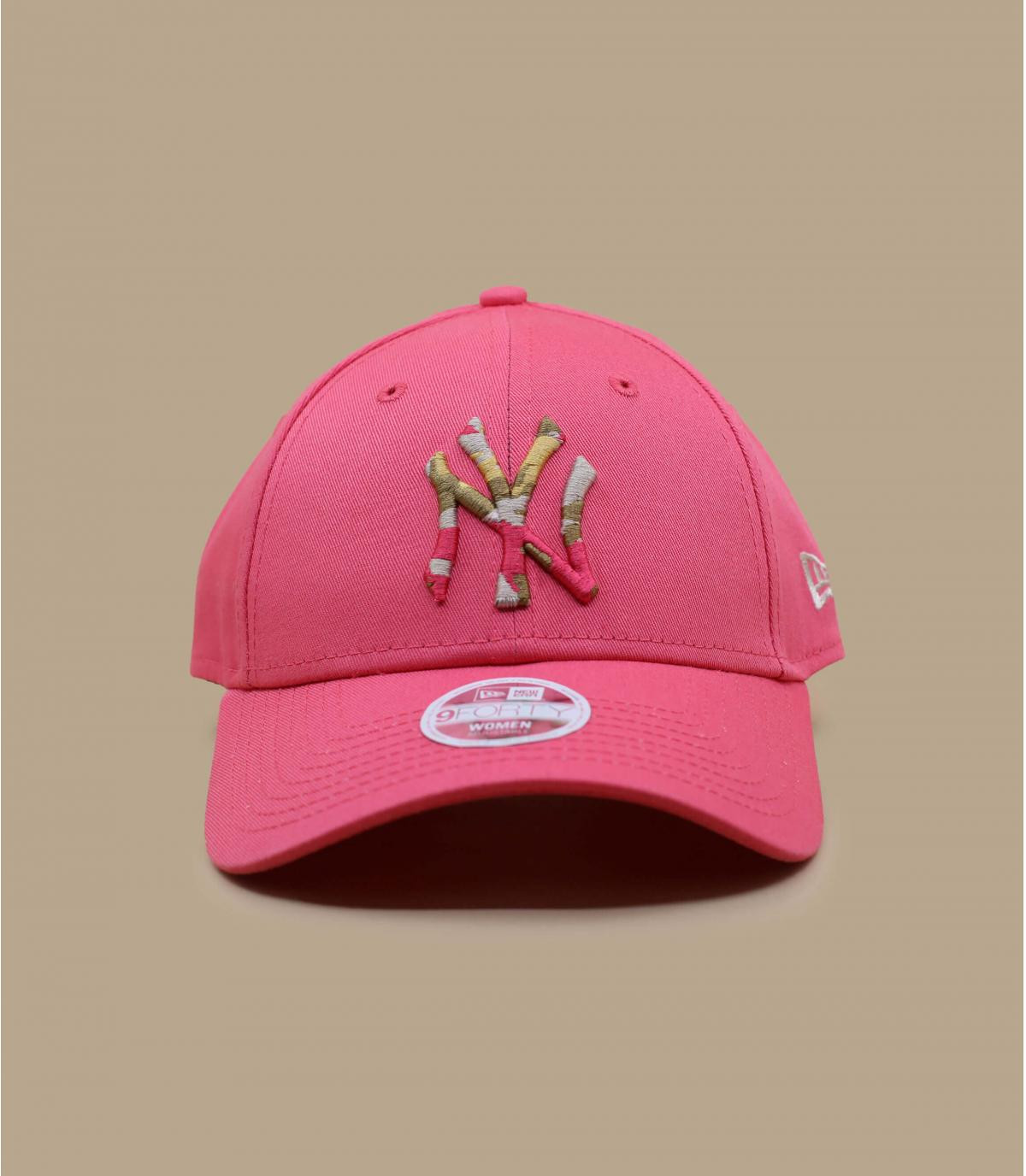 casquette NY rose femme