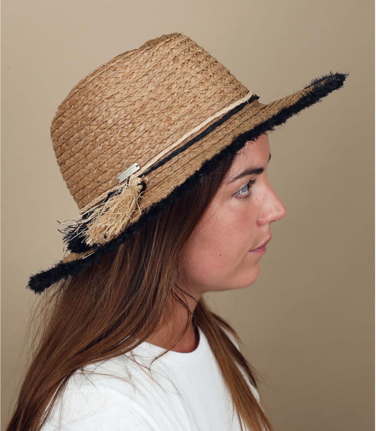 chapeau paille frange