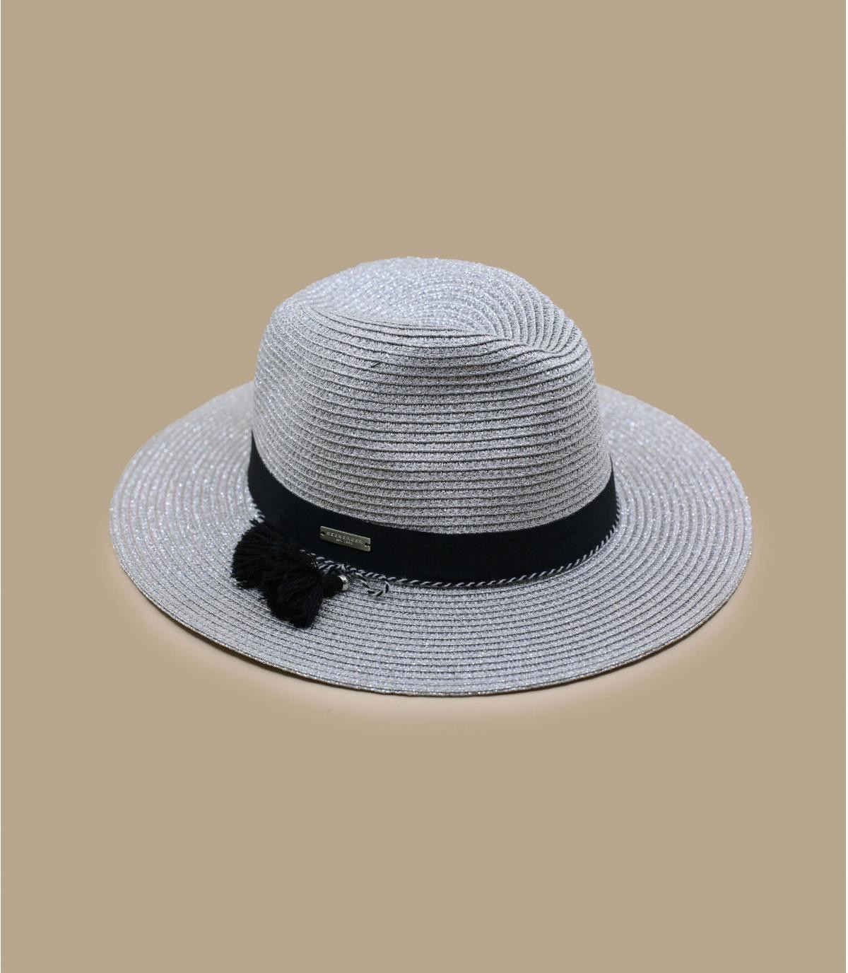 Détails Fedora in shiny braid light grey - image 2