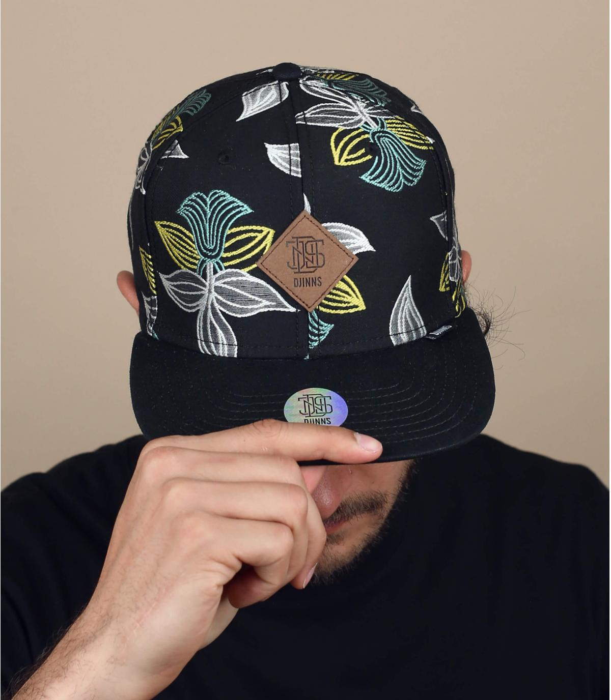 casquette noir fleurs Djinns