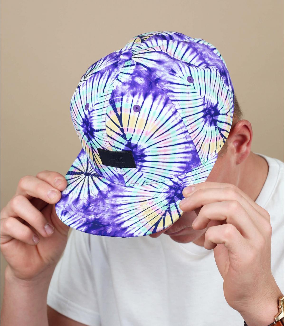 snapback Vans tie dye