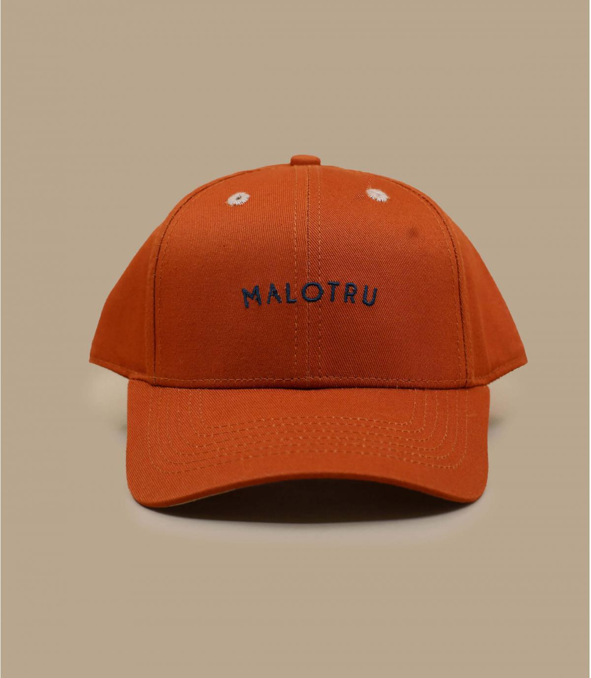 casquette enfant Malotru orange