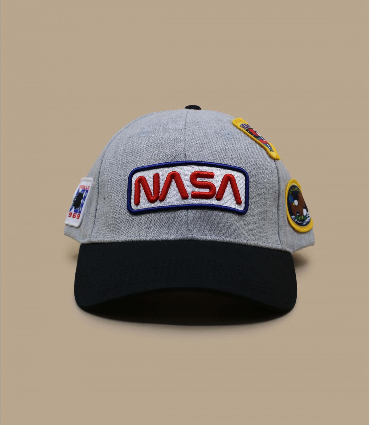 casquette NASA gris noir