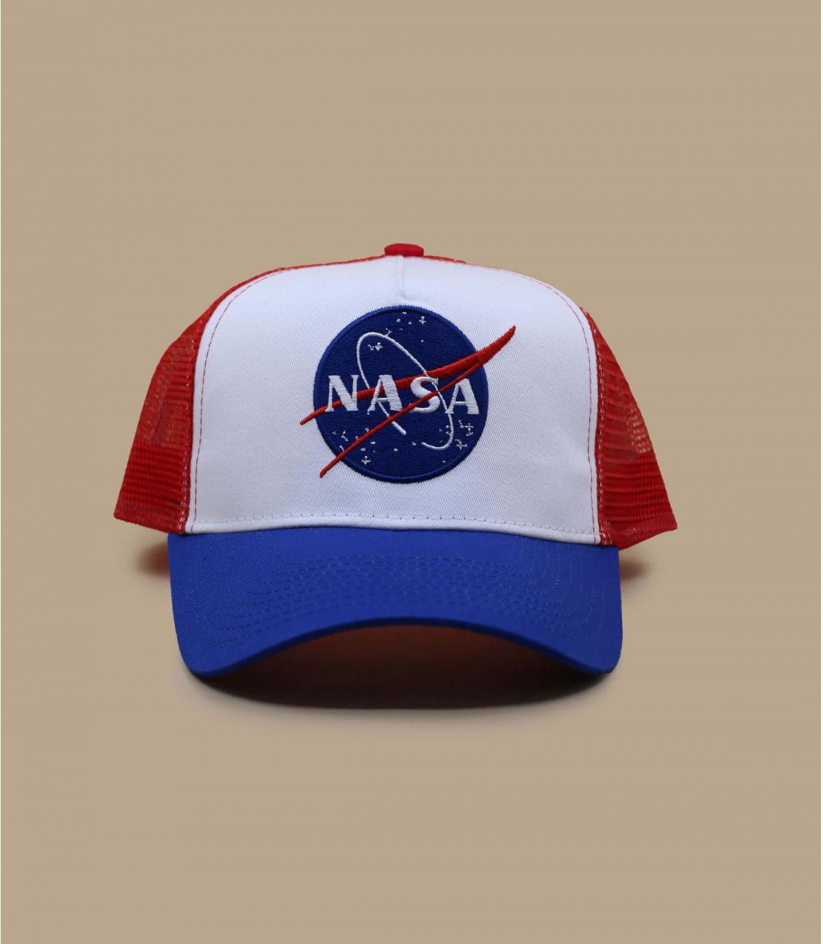 trucker NASA bleu blanc rouge