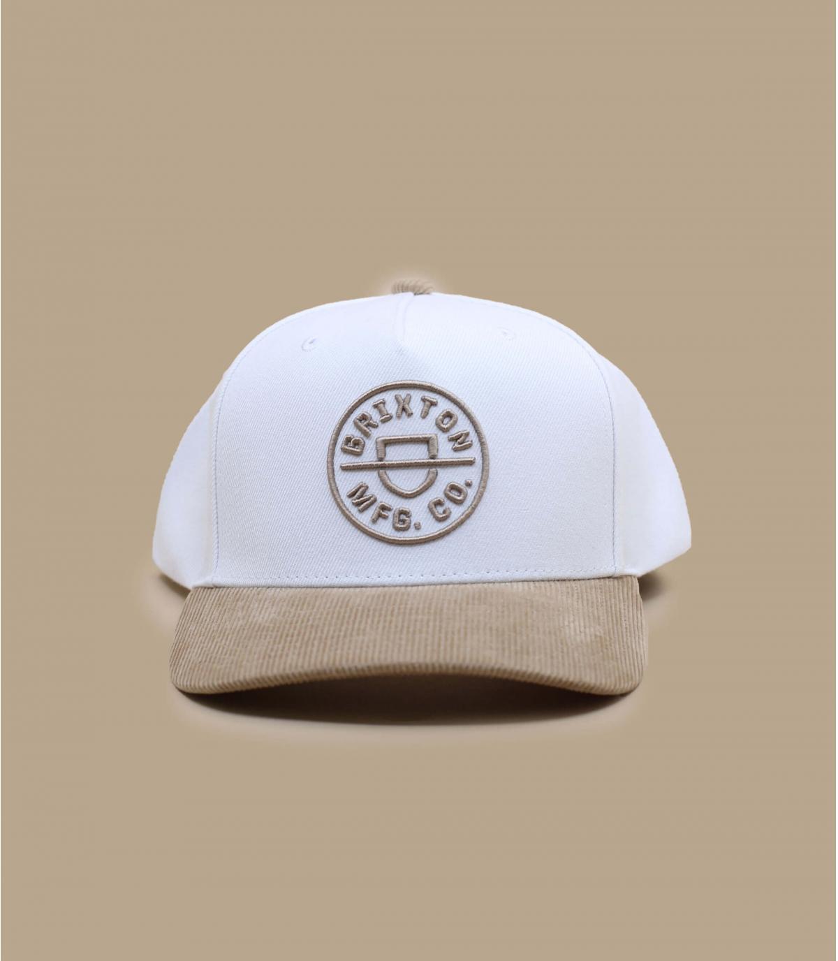 casquette blanc beige Brixton