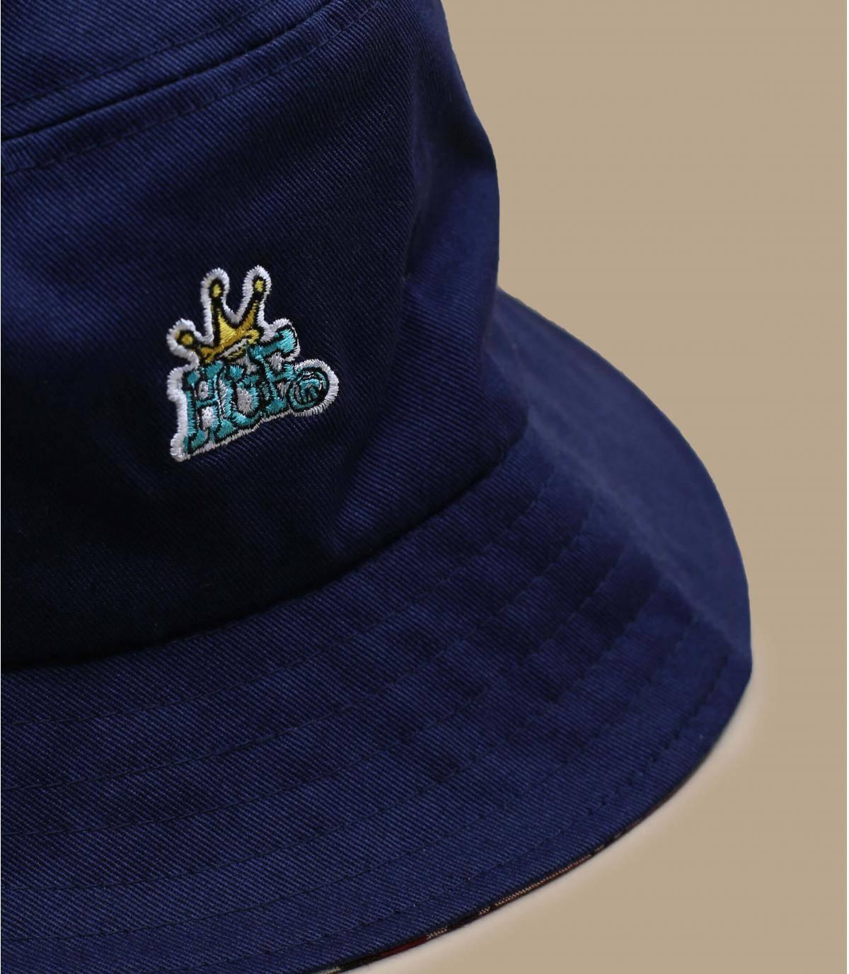 Détails Crown Reversible Bucket navy blazer - image 3