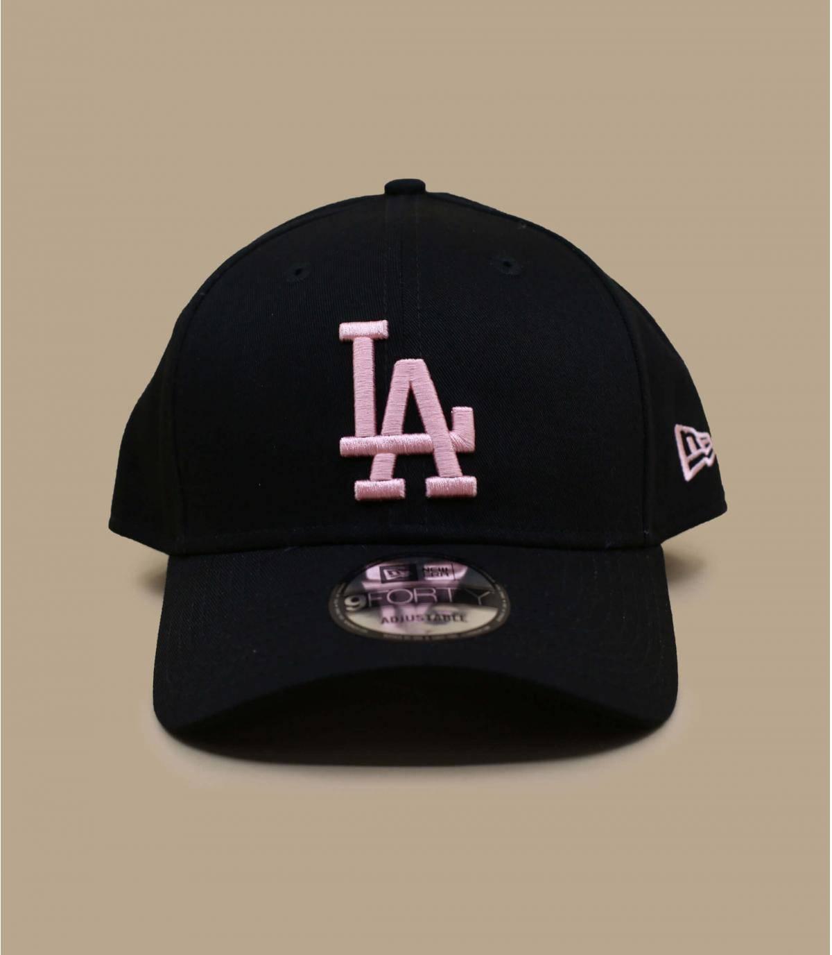 casquette LA noir rose